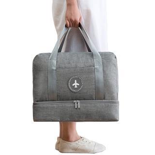 【PUSH!】旅遊用品防水乾濕分離手提行李包行李收納包鞋包沙灘包大容量(S52)