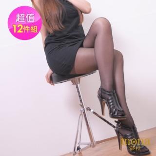 【Mona】夢拉耐勾透明美膚絲襪(黑色12雙入)