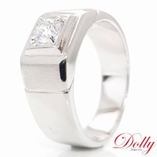 【DOLLY】承諾 晶鑽銀飾男戒