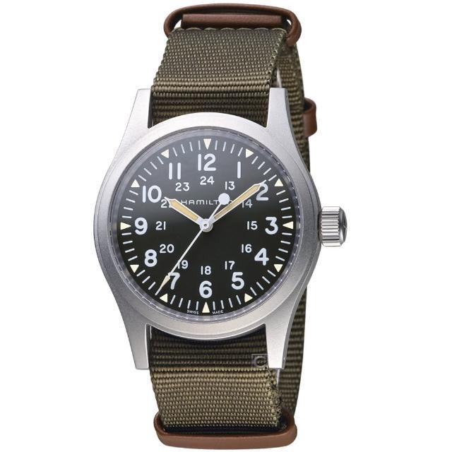 【HAMILTON 漢米爾頓】卡其野戰系列軍事腕錶(H69439931)