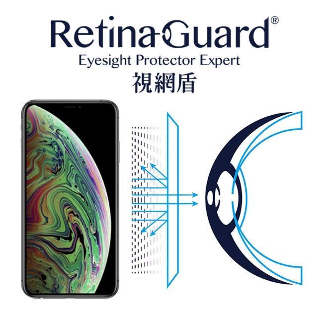 【RetinaGuard 視網盾】視網盾 iPhoneXs Max 6.5吋 防藍光保護膜(防藍光)