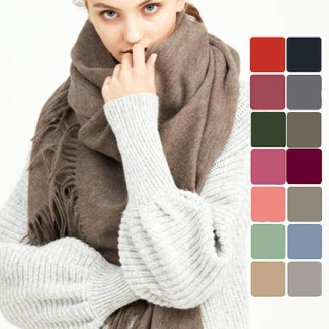 【5TH AVE】加大加厚款羊毛披肩/圍巾(快速到貨)