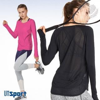 【Un-Sport高機能】時尚透氣縷空美背連指上衣(瑜伽/健身/路跑)