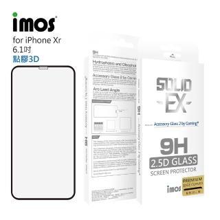 【iMos】Apple iPhone XR(神極3D版 玻璃螢幕保護貼)