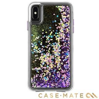 【美國CASE-MATE】iPhone XS / X Waterfall(亮粉瀑布防摔手機保護殼 - 螢光紫)