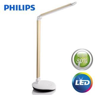 【Philips 飛利浦】LEVER 酷恒LED檯燈-香檳金(72007)