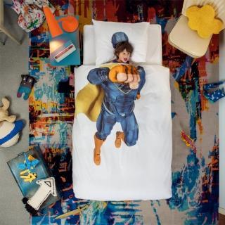【皇室羽毛工房】荷蘭SNURK趣味寢具-SUPERHERO/BLUE