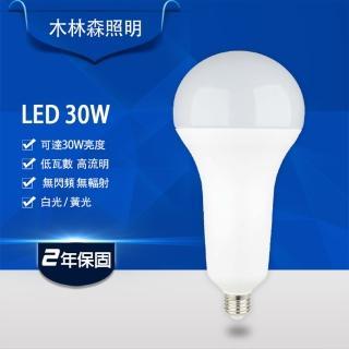 【木林森照明】LED高瓦數球燈泡 30W(白光)
