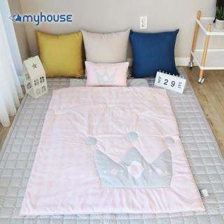 【myhouse】韓國防蹣抗敏兒童睡袋 -(皇冠粉)