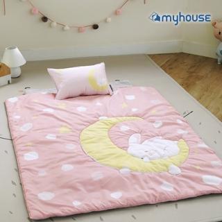 【myhouse】韓國防蹣抗敏兒童睡袋 -(月兔粉)