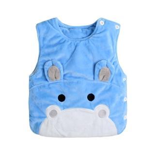 【Baby童衣】任選 水晶絨動物臉譜夾棉保暖背心  82045(河馬)