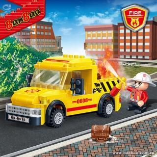 【BanBao 邦寶積木】7108/消防指揮車(消防系列)
