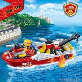 【BanBao 邦寶積木】7105/消防救生艇(新消防系列)