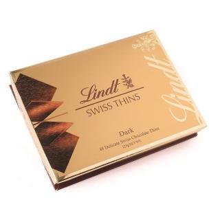 【Lindt 瑞士蓮】經典薄片黑巧克力 125g(黑巧克力)