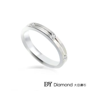 【DY Diamond 大亞鑽石】18K金 時尚風格鑽石線戒