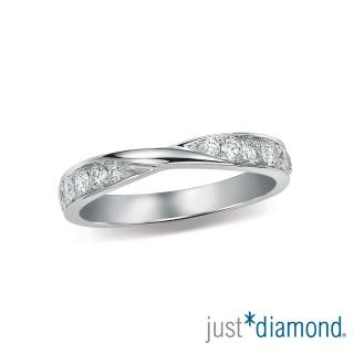 【Just Diamond】Eternity系列 18K鑽石戒指 I Swear 對戒(女戒)