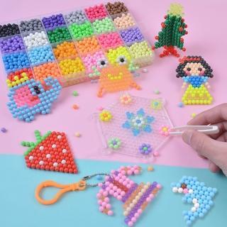 【JoyNa】兒童益智DIY神奇水霧魔法珠玩具拼豆豆魔珠水粘珠(2盒入)