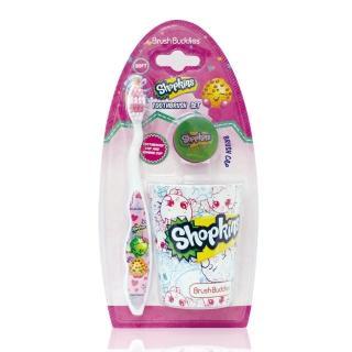 【美國熱銷卡通 Shopkin】牙刷漱口杯組(軟毛/適5歲以上)