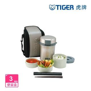 【TIGER 虎牌】不鏽鋼保溫飯盒_3碗飯(LWU-B170)