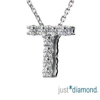 【Just Diamond】Love Words字母系列 18K金鑽石墜子-T