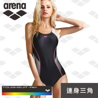 【arena】限量 秋冬新款 女士 訓練款 時尚保守 顯瘦遮肚 連體泳衣 修身三角(TMS8117W)