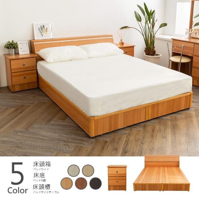 【時尚屋】納特床箱型3件房間組-床箱+床底+床頭櫃2個(五色可選 不含床墊 免運費 免組裝 臥室系列)