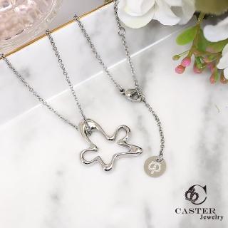 【日本 凱斯特 CASTER】精靈在跳舞 玫瑰金項鍊 防抗過敏 SUS316L頂級不鏽鋼飾品