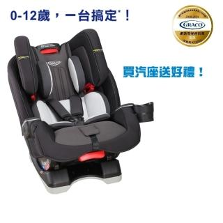【Graco】0-12歲長效型嬰幼童汽車安全座椅 MILESTONE LX-大灰狼(限量贈 汽車座椅保護墊NT1200)