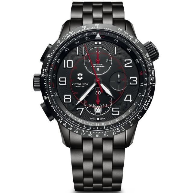 【VICTORINOX 瑞士維氏】Airboss Mach 9 Black Edition腕錶(VISA-241742)