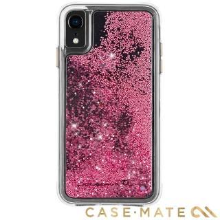 【美國 CASE-MATE】iPhone XR Waterfall(亮粉瀑布防摔手機保護殼 - 玫瑰金)