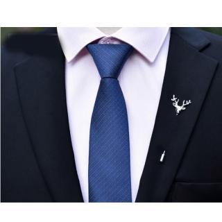 【拉福】領帶6cm中窄版領帶精工拉鍊領帶(深藍)