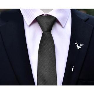 【拉福】領帶6cm中窄版領帶精工拉鍊領帶(黑)