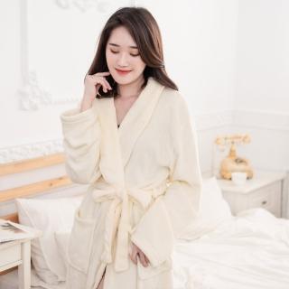 【網狐】加厚珊瑚絨男女浴睡袍