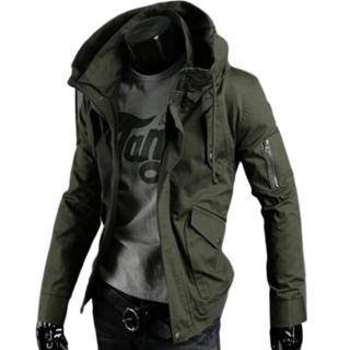 【米蘭精品】軍裝外套立領夾克(時尚個性韓版修身男外套2色62o1)