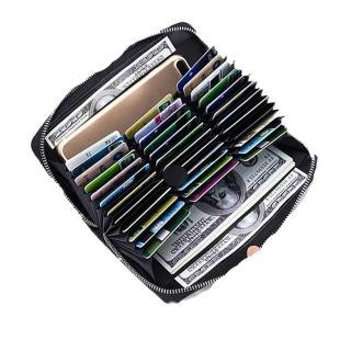 【2WY】RFID防盜36卡真皮大容量男女風琴卡包錢包長夾(酒紅/黑色/咖啡/粉紅/淺藍)
