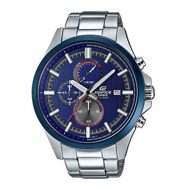 【CASIO 卡西歐】EDIFICE計時碼錶系列 Red Bull紅牛F1賽車款/47mm/藍(EFV-520RR-2A)