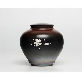【原藝坊】柴燒陶瓷密封茶葉罐儲物罐(矮款11*12cm)