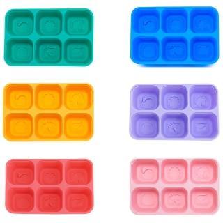 【MARCUS&MARCUS】MARCUS&MARCUS 動物樂園矽膠副食品分裝保存盒(藍色/黃色/紫色/紅色/綠色/粉紅色)