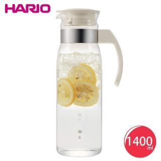 【HARIO】耐熱玻璃冷水壺1400ml-白(RPLN-14OW)