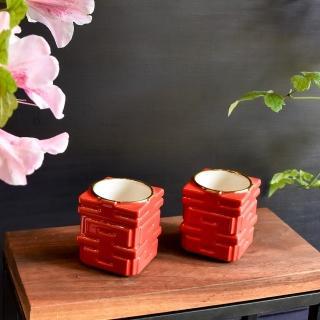【TALES 神話言】囍悅-雙喜對杯-千杯不醉-小-婚禮必備(文創 禮品 禮物  收藏 結婚)