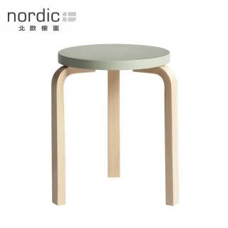 【北歐櫥窗】Artek Stool 60 三腳圓凳(原木腳 x 綠湖椅面)