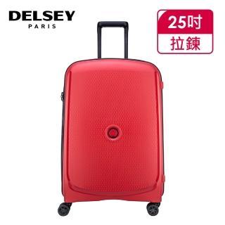 【DELSEY 法國大使】BELMONT PLUS-25吋旅行箱/行李箱-紅色(00386182004)