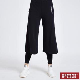 【5th STREET】女休閒寬褲-黑色