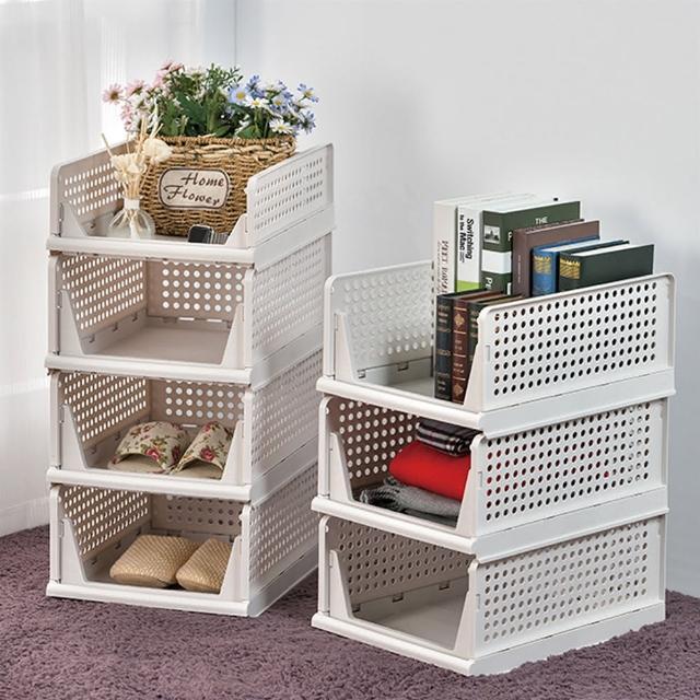 【ikloo 宜酷屋】日系可疊式抽取收納箱(6大送1小超值組)