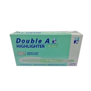【Double A】淡色螢光筆-薄荷綠(12支/盒)