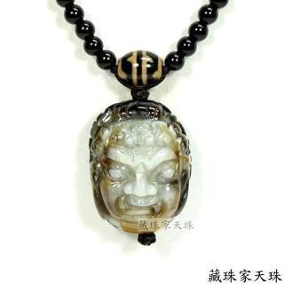 【藏珠家】精品財咒兩眼天眼+不動名王法相天珠項鍊