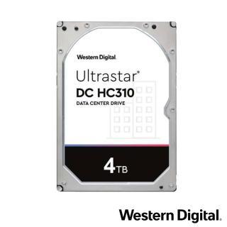 【Western Digital】Ultrastar DC HC310 4TB 3.5吋企業級硬碟(HUS726T4TALA6L4)