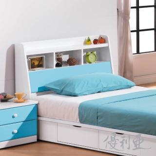 【優利亞】童話世界 粉藍雙色3.5尺床頭箱