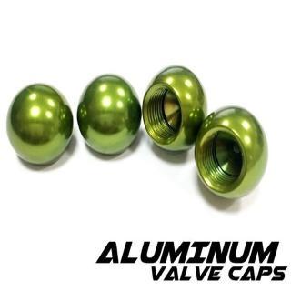 【Cotrax】鋁合金氣嘴蓋-珠珠型/綠色(輪胎蓋 自行車 輪胎頭 輪框 重機 單車 電動機車 機車 轎跑車)