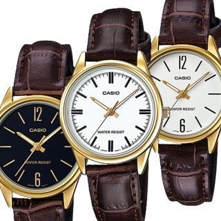 【CASIO 卡西歐】溫暖秋風大方線條女錶-白x34mm(LTP-V005GL-7A/7B)